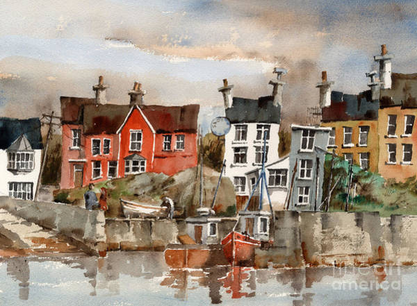 Painting - F 753  Glandore Harbour, Cork by Val Byrne