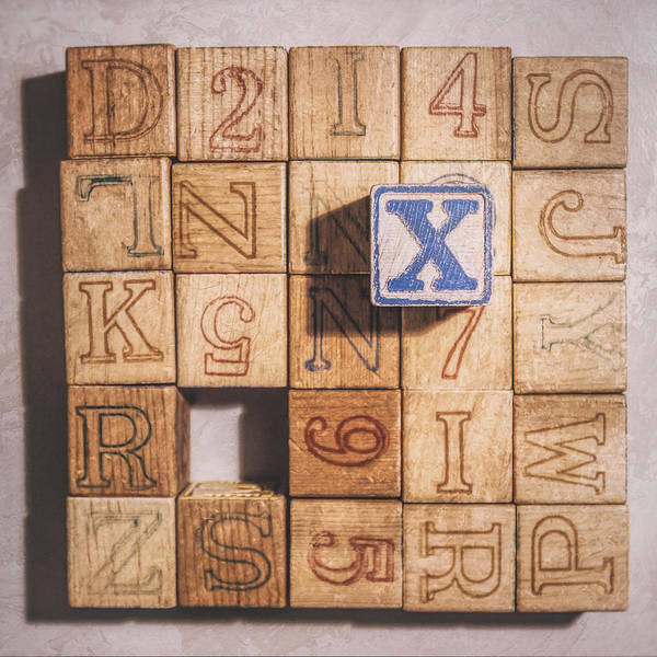 Numbers Photograph - X Blocks by Scott Norris