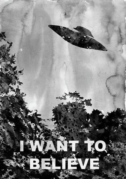 Want Digital Art - X-files-black by Erzebet S