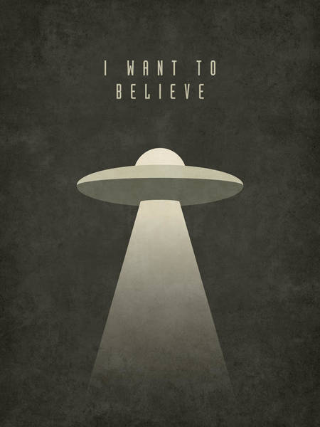 Television Digital Art - X-files I Want To Believe by Ivan Krpan