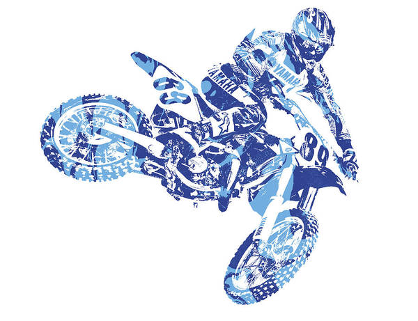 Enduro Wall Art - Mixed Media - X Games Motocross Pixel Art 8 by Joe Hamilton