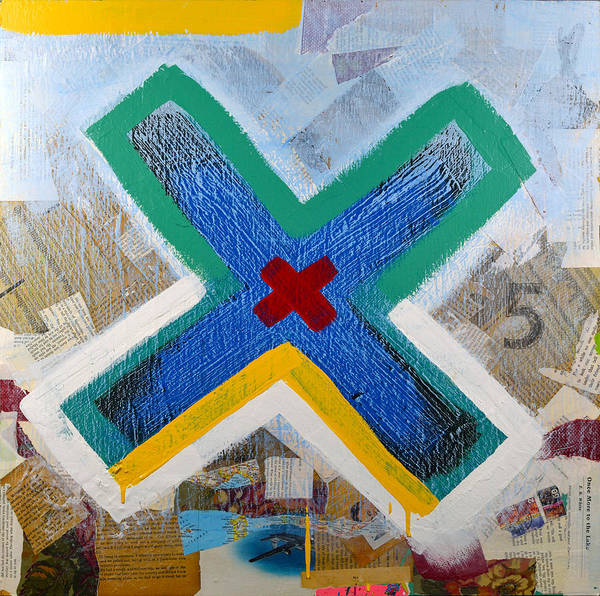 Wall Art - Painting - X by George Lacy