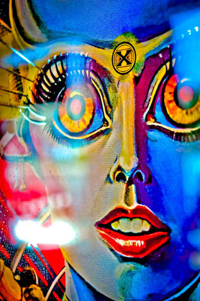 Wall Art - Photograph - X Is For Xenon - Pinball by Colleen Kammerer