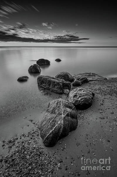 Wall Art - Photograph - 'x' Marks Serenity - Bw by Andrew Slater