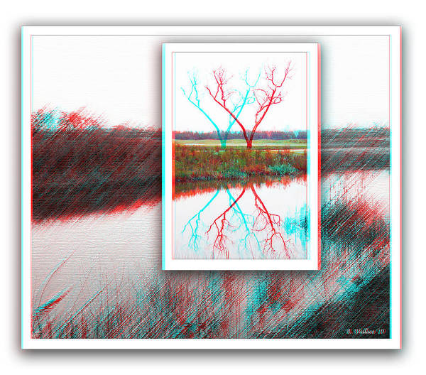 Anaglyph Photograph - X Marks The Spot - Use Red-cyan 3d Glasses by Brian Wallace