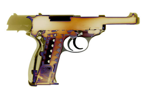 Wall Art - Photograph - X-ray Art Of Walther P38 No. 3 by Ray Gunz