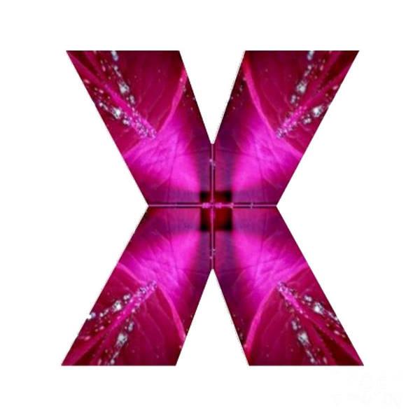 Cut-out Mixed Media - X Xx Xxx  Alpha Art On Shirts Alphabets Initials   Shirts Jersey T-shirts V-neck By Navinjoshi by Navin Joshi
