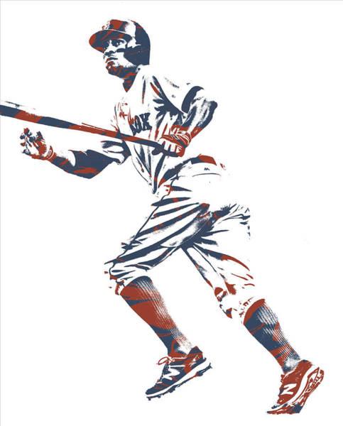 Wall Art - Mixed Media - Xander Bogaerts Boston Red Sox Pixel Art 10 by Joe Hamilton