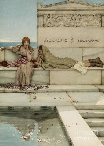 Painting - Xanthe And Phaon by Lawrence Alma-Tadema
