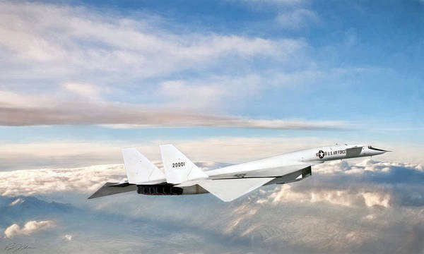Nuclear Bomber Wall Art - Digital Art - Xb-70 Valkyrie by Peter Chilelli