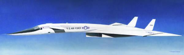 Painting - Xb-70a Early Test Flight by Douglas Castleman
