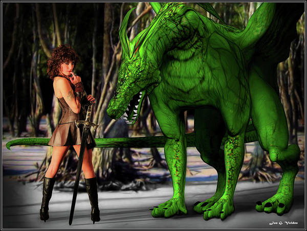 Photograph - Xena And The Green Dragon by Jon Volden