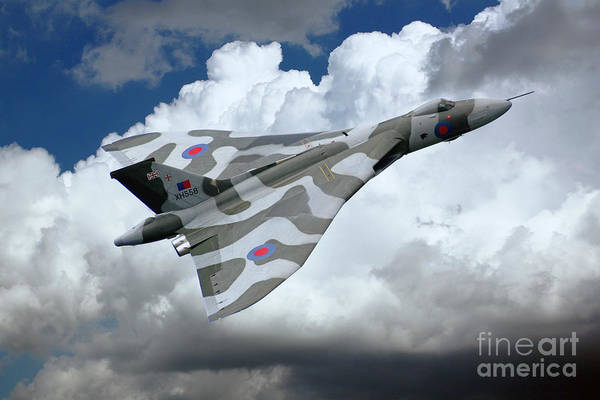 Avro Vulcan Wall Art - Digital Art - Xh558 Pass  by J Biggadike