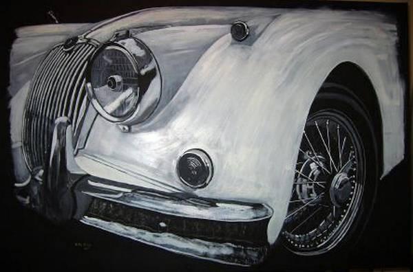 Painting - Xk150 Jaguar by Richard Le Page