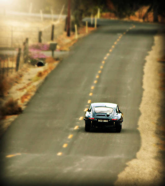 Photograph - Xke Racing The Backroads by Steve Natale