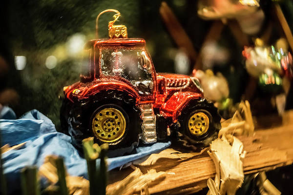 Photograph - Xmas Tractor Ornament by Sven Brogren