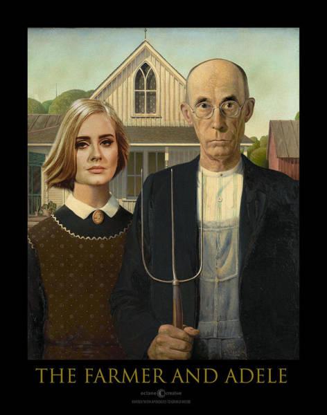 Digital Art - The Farmer And Adele by Tim Nyberg