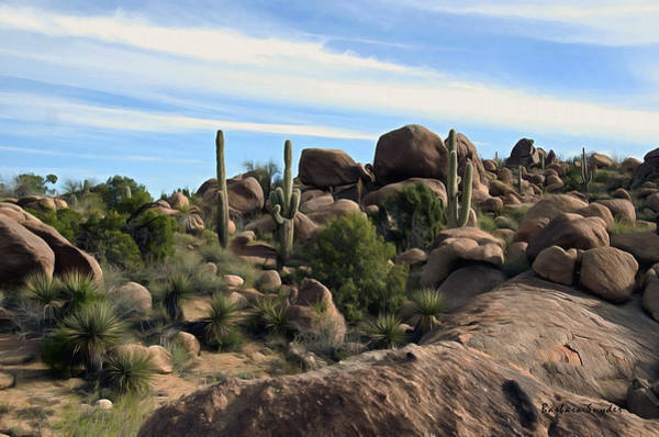 Painting - Wickenberg Giant Saguaros 1  by Barbara Snyder