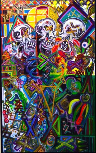 Xxxkull The Xxxiamese Twins  Art Print