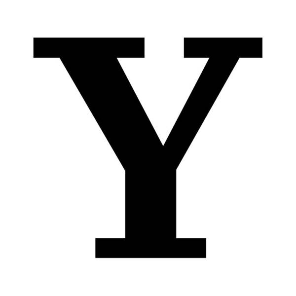 Serif Digital Art - Y In Black Typewriter Style by Custom Home Fashions