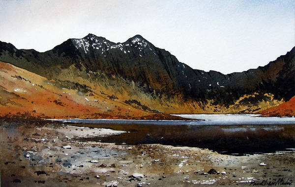 Wall Art - Painting - Y Lliwedd Ridge From Lake Llyn Llydaw by Paul Dene Marlor