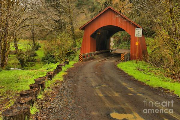 Photograph - Yachats Covered Bridge by Adam Jewell
