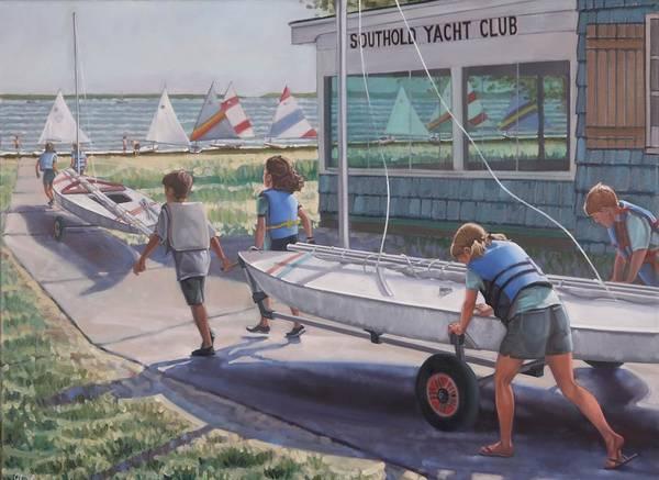Painting - Yacht Club  by Gary M Long