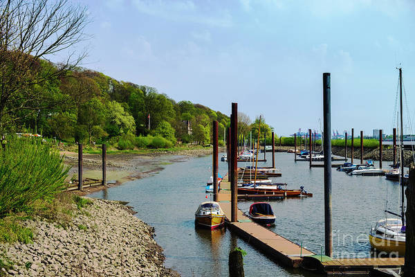 Photograph - Yacht Harbor On The River. Film Effect by Marina Usmanskaya