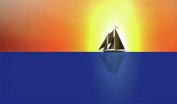 Digital Art - Yacht In Sunlight by Michael Goyberg