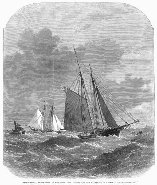Livonia Photograph - Yacht Race, 1871 by Granger