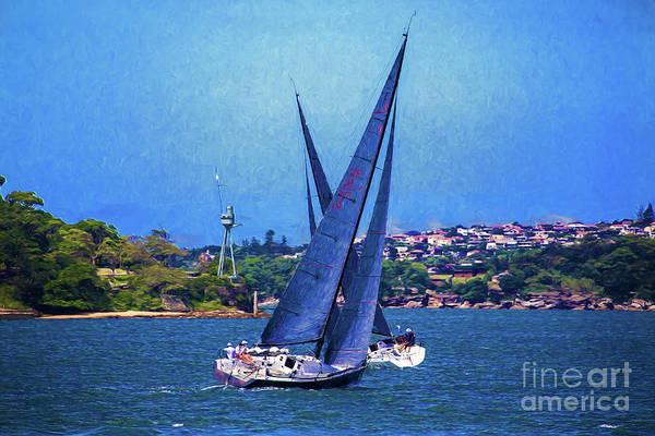 Wall Art - Photograph - Yacht Race On Sydney Harbour by Sheila Smart Fine Art Photography