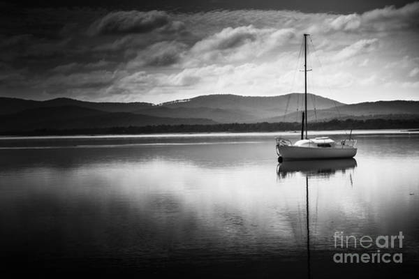 Photograph - Yacht Sailing Boat With Sails Down In Port Sorell  by Jorgo Photography - Wall Art Gallery