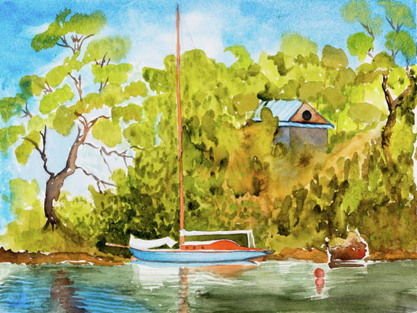 Painting - Yacht Weene' In Barnes Bay  by Dorothy Darden
