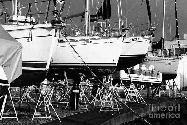 Acores Photograph - Yachts On Drydock by Gaspar Avila