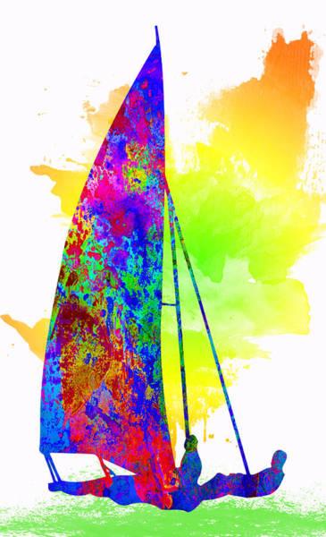 Sportsman Digital Art - Yachtsman by Elena Kosvincheva