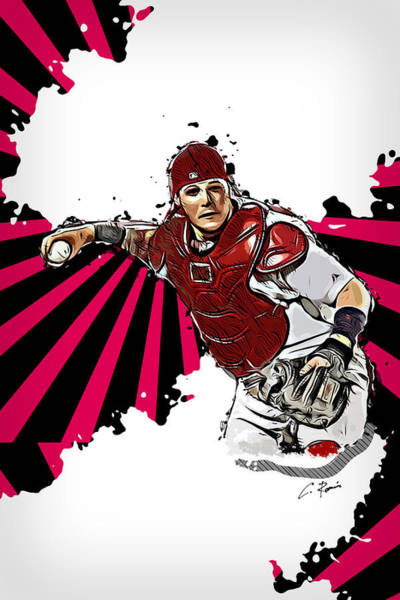 Digital Art - Yadier Molina by Charlie Roman