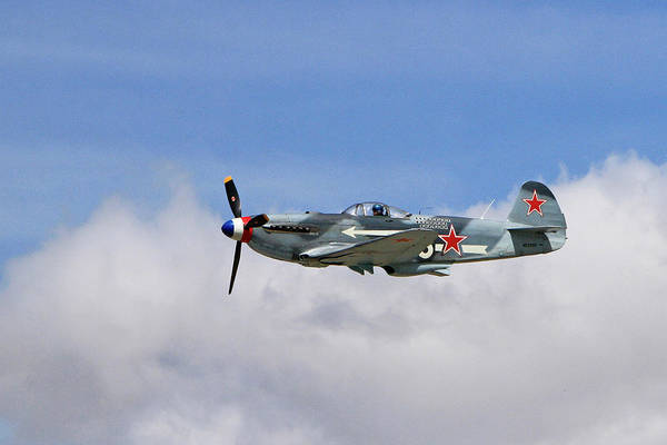 Yakovlev Photograph - Yak-1 In The Clouds by Shoal Hollingsworth