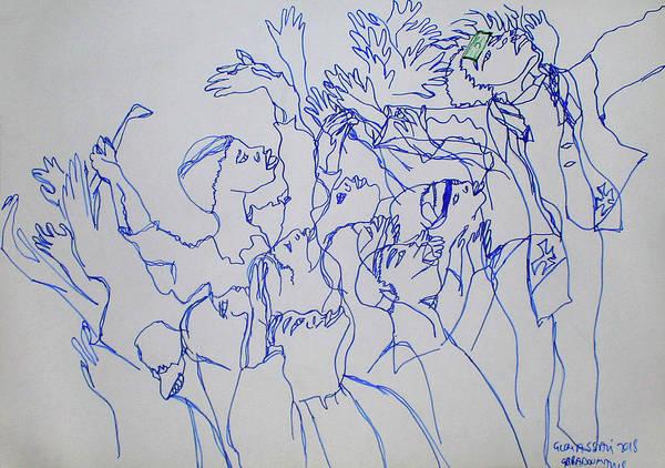Painting - Yakoma Gbadouma Traditonal Dance Central African Republic by Gloria Ssali