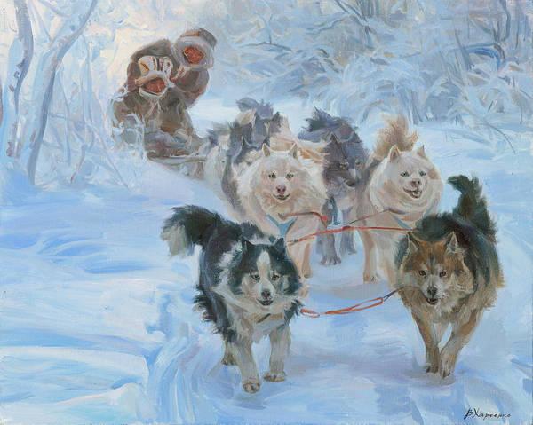 Wall Art - Painting - Yakuts. Winter Way by Victoria Kharchenko