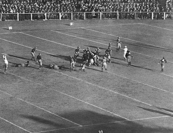 Harvard University Photograph - Yale Drop Kick Is Good by Underwood Archives