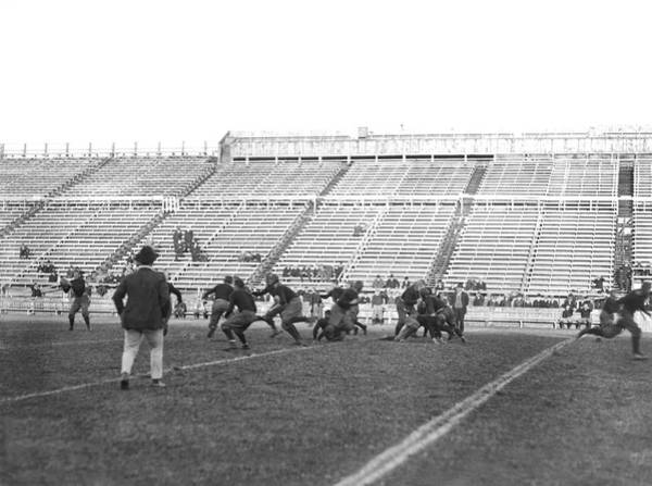 Photograph - Yale Football Practice 1913 by Underwood Archives