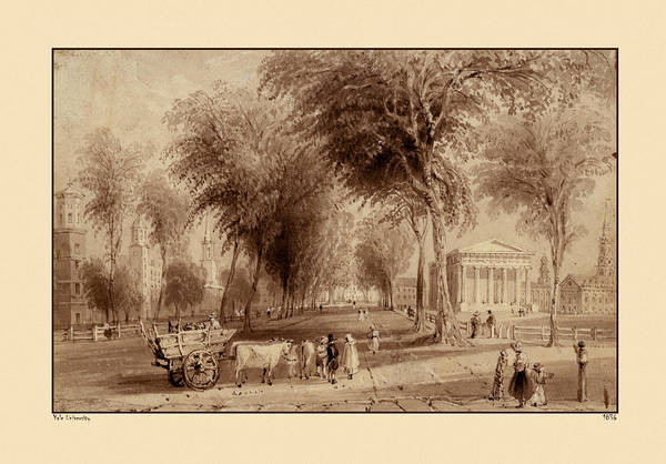 Photograph - Yale University 1836 by Andrew Fare