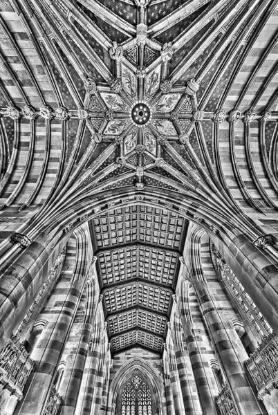 Photograph - Yale University Sterling Library Bw by Susan Candelario