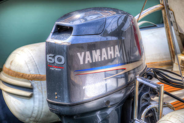 Outboard Engine Photograph - Yamaha 60 Outboard Motor by David Pyatt