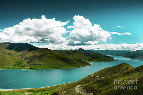 Wall Art - Photograph - Yamdrok Lake The Himalayas Tibet Yantra.lv 2016  by Raimond Klavins
