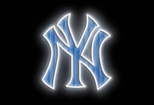 New Trend Digital Art - Yankees Neon Sign by Ricky Barnard