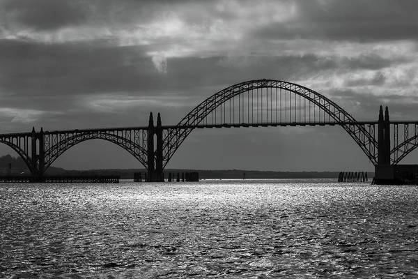Photograph - Yaquina Bay Bridge Black And White by James Eddy