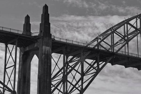 Photograph - Yaquina Bay Bridge Detail by Patricia Strand