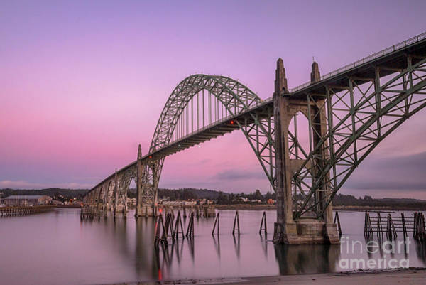 Photograph - Yaquina Bay Bridge In Blue Light by Paul Quinn