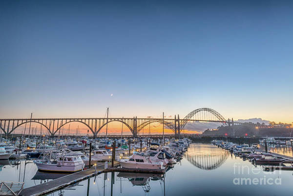 Photograph - Yaquina Bay Sunset by Paul Quinn